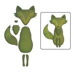 S2193 Spellbinders Shapeabilities Die D-Lites Forest Fox