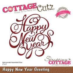 "085817 CottageCutz Elites Dies New Year Greeting 3""X3"""