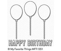 MFT-1351 My Favorite Things Happy Birthday Balloon Trio Die-Namics