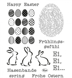 4003.144.00  Viva Clear Stamps Frohe Ostern