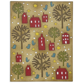 665558 Sizzix Thinlits Die Countryside By Tim Holtz