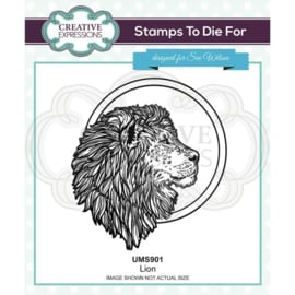 UMS901 Creative Expressions Pre cut stamp Leeuw