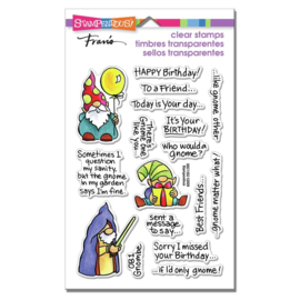 628802 Stampendous Perfectly Clear Stamps Gnome Sayings