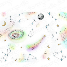 662017 Stamping Bella Cling Stamps Starry Sky Backdrop