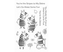 CS-448 My Favorite Things Zippy Zebras Clear Stamps
