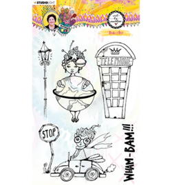 STAMPBM66 StudioLight BM Clear Stamp A windy day Marlene's World nr.66