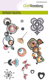 130501/1281 CraftEmotions clearstamps A6 Retro prints