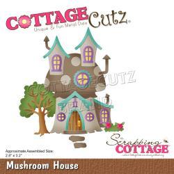 """594860 CottageCutz Dies Mushroom House 2.8""""X3.2"""""""