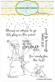 "C3AJ551 Colorado Craft Company Clear Stamps Flurries Of Fun-By Anita Jeram  4""X6"""