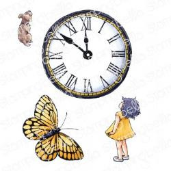 EB929 Stamping Bella Cling Stamps Edgar And Molly's Vintage Clock Set
