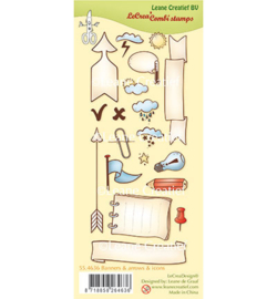 55.4636 Leane Creatief Clear Stamp Banners, arrows & icons