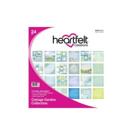 "HCDP1 2111 Heartfelt Creations Double-Sided Paper Pad Cottage Garden 12""X12"" 24/Pkg"