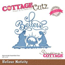 "540412 CottageCutz Elites Die Believe Nativity 3.5""X3.3"""