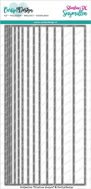 CDSN-0098 CarlijnDesign Snijmallen Slimline Strepen