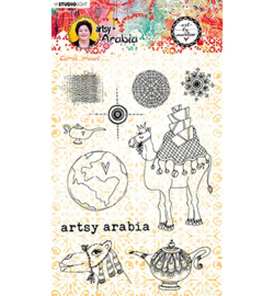 STAMPBM60 Art By Marlene Clear Clear Stamp Artsy Arabia, nr.60