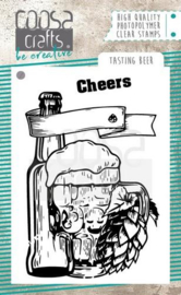 COC-062  COOSA Crafts clearstamps A7 Tasting beer