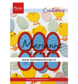 LR0643 Marianne Design Cutting & embossing Easter eggs