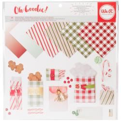 "457135 We R Memory Keepers Glassine Paper Pack Holiday Classic 12""X12"""