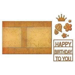 S7202 Spellbinders Card Creator Step Card Decorated Birthday