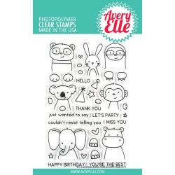 "038839 Avery Elle Clear Stamp Set Peek-A-Boo Pals 4""X6"""