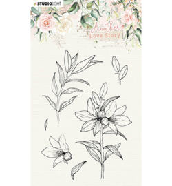 SL-ALS-STAMP04 StudioLight Clear Stamp Lily flower Another Love Story nr.4