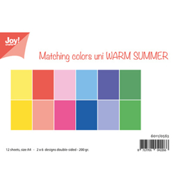 6011/0563 Papier Set A4 Matching Colors Warm Summer
