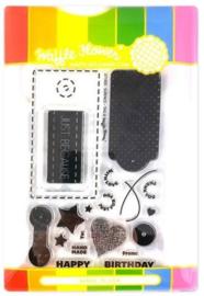 614436 Waffle Flower Stamp & Die Set Surface Tag
