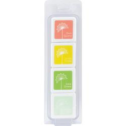 329102  Hero Arts Dye Ink Cubes 4 Colors Early Spring
