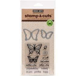 536073 Hero Arts Stamp & Cut Butterfly Pair