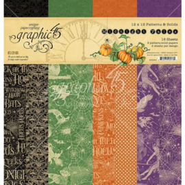 """G4502284 Graphic 45 Double-Sided Paper Pad Midnight Tales 12""""X12"""" 16/Pkg"""
