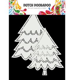 470.784.016 Dutch DooBaDoo  Card Art Kerstbomen 2 set