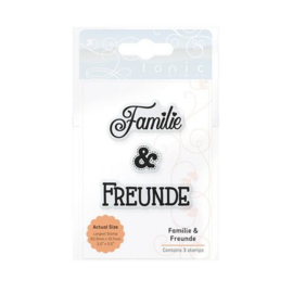 2199E Tonic Studios Ess. Familie & Freunde (DE) Stamp Set