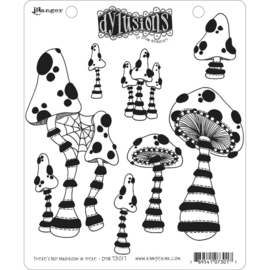 "617536 Dyan Reaveley's Dylusions Cling Stamp There's No Mushroom In Here! 8.5""X7"""