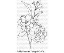 BG-106 My Favorite Things Fresh-Cut Flowers Background Stamp