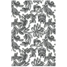665631 Sizzix 3D Texture Fades Embossing Folder Mini Botanical By Tim Holtz