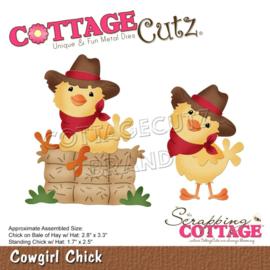 "CC892 CottageCutz Dies Cowgirl Chick 1.7"" To 3.3"""