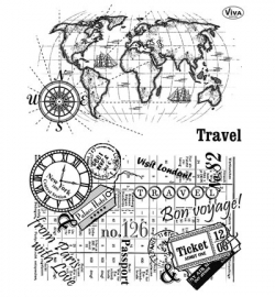 7032 Viva Decor Clear Stamps Travel