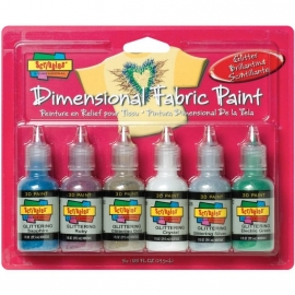 359460 Scribbles 3D Fabric Paint Glittering