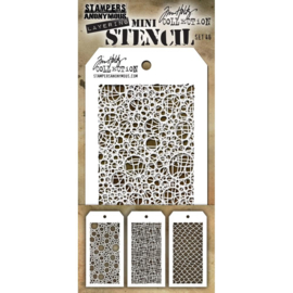 MTS 46 Tim Holtz Mini Layered Stencil Set #46