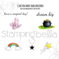 "373119 Stamping Bella Cling Stamp Unicorn Add-Ons 6.5""X4.5"""