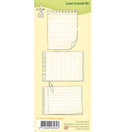 55.4643 Leane Creatief Clear Stamp Notebook pages