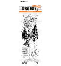 SL-GR-STAMP101 StudioLight Clear Stamp Deer in Full moon Grunge nr.101