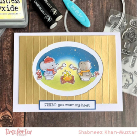 T4T/453/Lif/Cle Time For Tea Life's Ups & Downs Clear Stamps