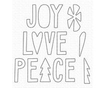 MFT-1611 My Favorite Things Joy, Love, and Peace Die-namics