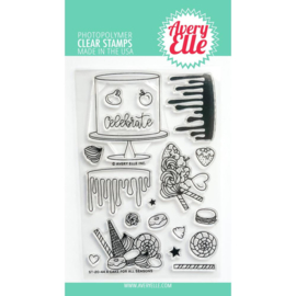 "646525 Avery Elle Clear Stamp Set A Cake For All Seasons 4""X6"""