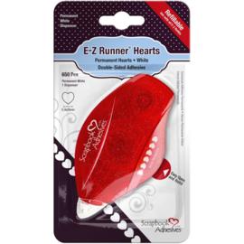 653247 Scrapbook Adhesives E-Z Runner Dispenser Permanent, Hearts, 650/Pcs