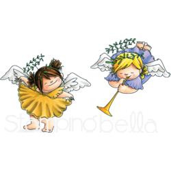 257352 Stamping Bella Cling Stamps Angel Squidgies Curtsy & Trumpet