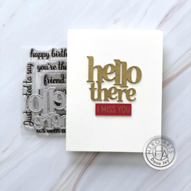 649365 Hero Arts Stamp & Cut Hello There