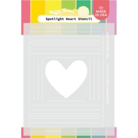 """647568 Waffle Flower Stencil Spotlight Heart 5.25""""X6.5"""""""