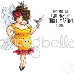 """419397 Stamping Bella Cling Stamp Edna Needs A Martini 6.5""""X4.5"""""""
